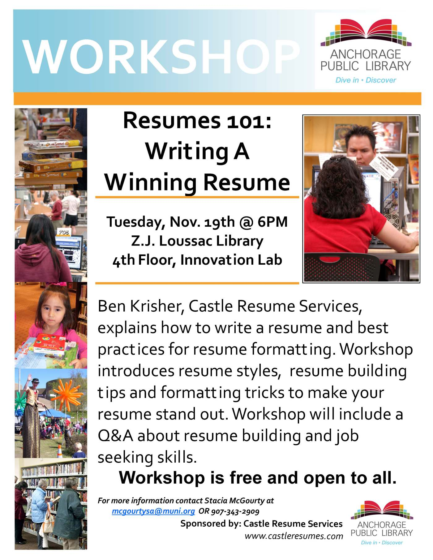 Free Resume Writing Workshop   Que Pasa? - Anchorage